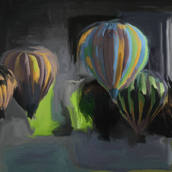 Mall Painting - Albuquerque International Balloon Fiesta 5 257 2 by Mawra Tahreem
