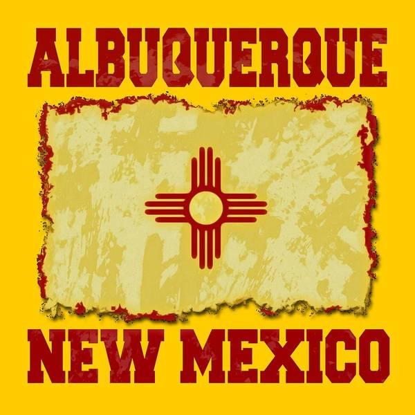 Wall Art - Digital Art - Albuquerque New Mexico by David G Paul
