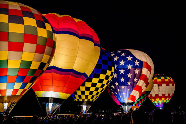 Photograph - Albuquerque Night Glow by Ron Pate
