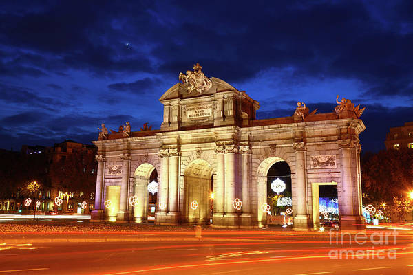 Photograph - Alcala Gate Monument Madrid Spain by James Brunker