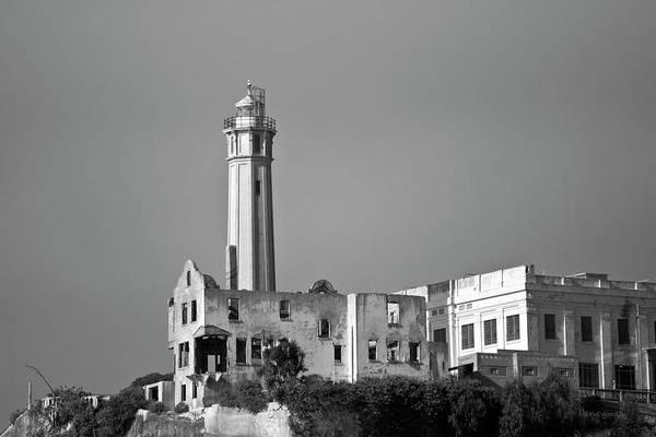 Photograph - Alcatraz II Bw by David Gordon