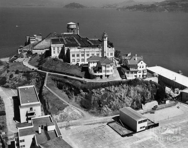 Photograph - Alcatraz Island Lighthouse California Lighthouse Circa 1950 by California Views Archives Mr Pat Hathaway Archives