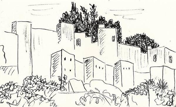Drawing - Alcazaba In Malaga by Chani Demuijlder