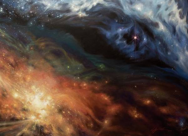 Star Cluster Painting - Alchemy Of Light by Lucy West