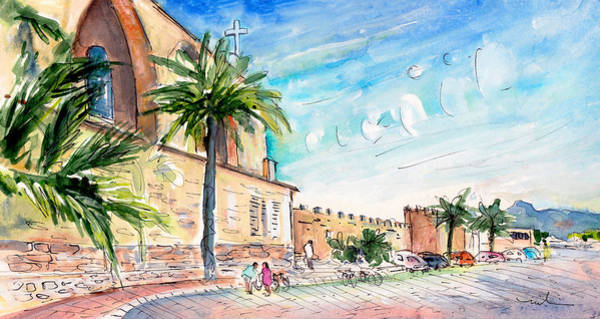 Painting - Alcudia Panoramic 01 In Majorca by Miki De Goodaboom