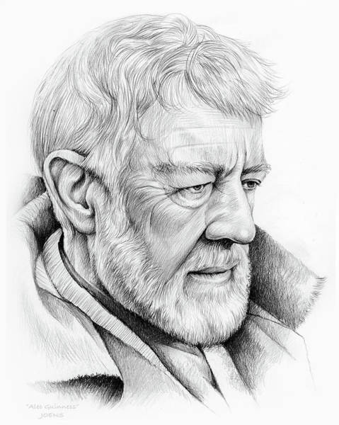 Actor Drawing - Alec Guinness by Greg Joens
