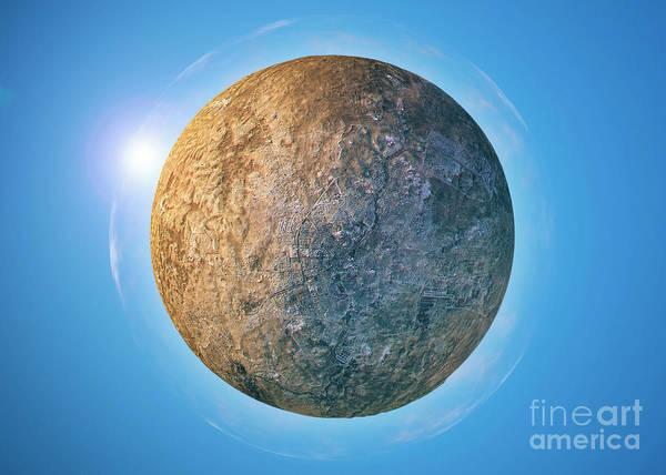 Little Planet Digital Art - Aleppo 3d Little Planet 360-degree Sphere Panorama by Frank Ramspott