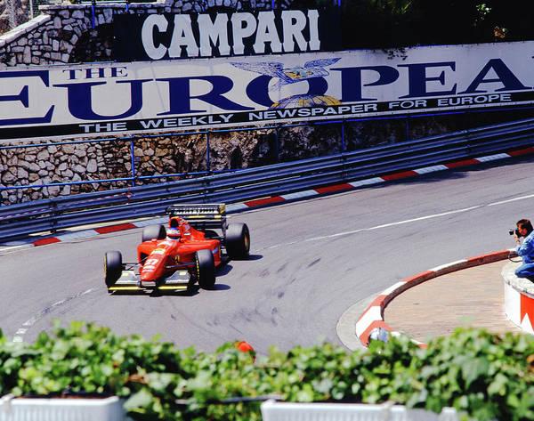 Photograph - Alesi At 1994 Monaco Grand Prix by John Bowers