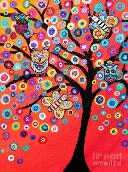 Painting - Alessa's Loving Tree by Pristine Cartera Turkus