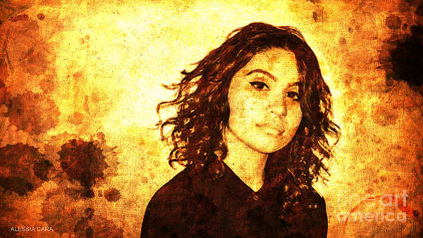 Rock Music Drawing - Alessia Cara by Drawspots Illustrations