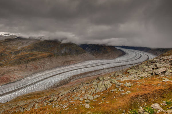 Photograph - Aletsch Glacier  by Brenda Jacobs