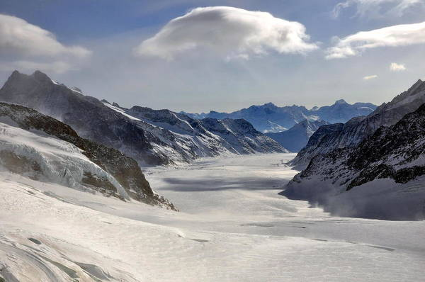 Ceca Wall Art - Photograph - Aletsch Glacier by Svetlana Peric