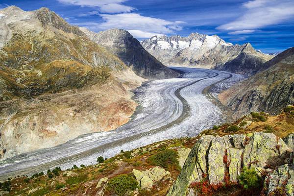 Photograph - Aletsch Glacier - Switzerland At Its Best by Matthias Hauser
