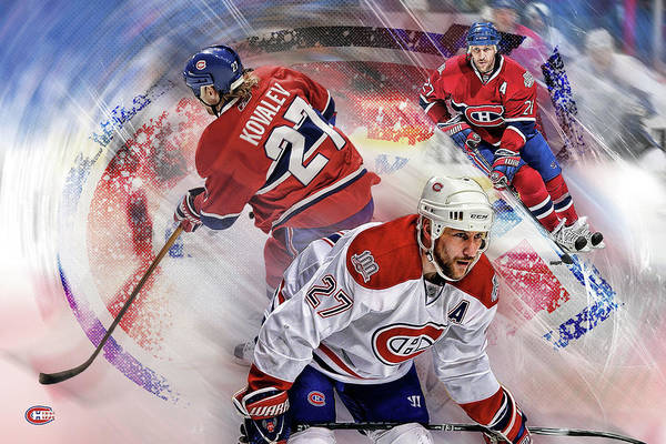Montreal Canadiens Digital Art - Alex Kovalev by Nicholas Legault