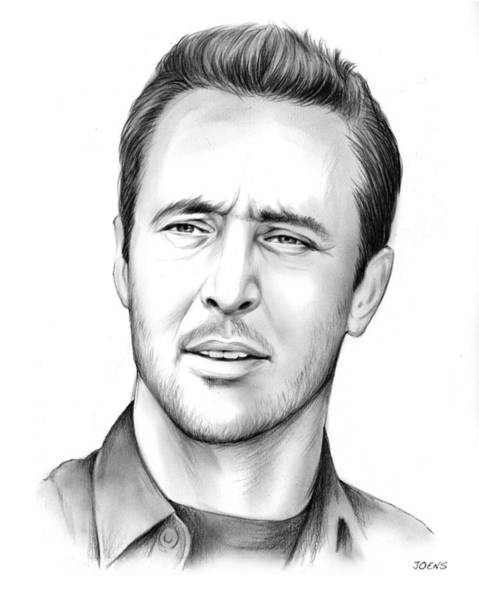 0 Wall Art - Drawing - Alex O'loughlin by Greg Joens
