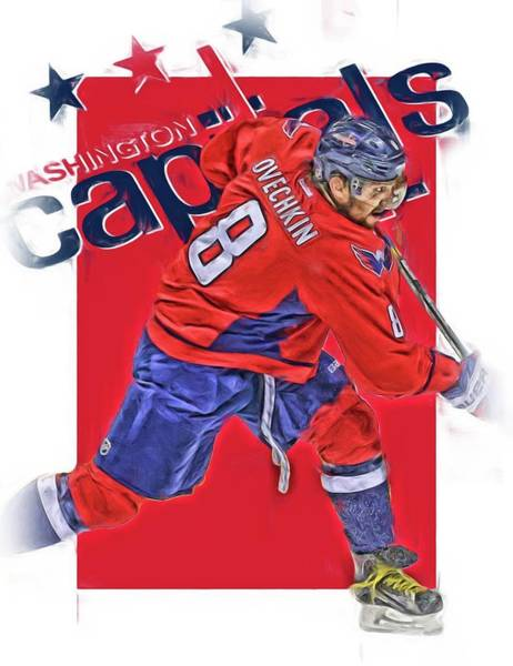 Wall Art - Mixed Media - Alex Ovechkin Washington Capitals Oil Art by Joe Hamilton