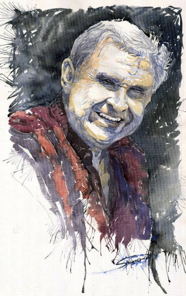 Watercolour Painting - Alex by Yuriy Shevchuk