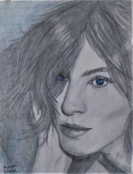 Drawing - Alexa Chung by Chuck Caputo