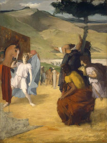 Wall Art - Painting - Alexander And Bucephalus by Edgar Degas