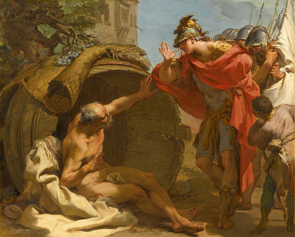 Wall Art - Painting - Alexander And Diogenes by Gaetano Gandolfi