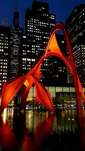 Photograph - Alexander Calder's Flamingo by Sue Conwell