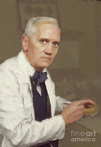 Invention Painting - Alexander Fleming, Famous Scientist by John Springfield