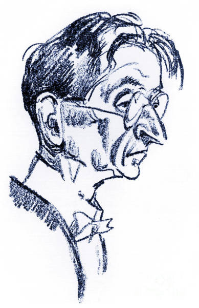 Wall Art - Drawing - Alexander Von Zemlinsky Caricature by Emil Orlik