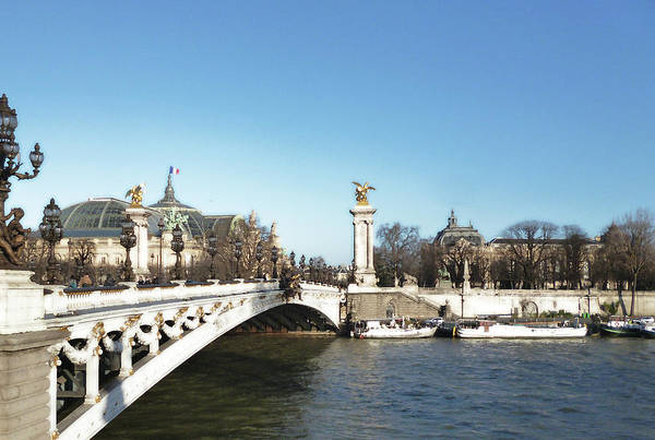 Photograph - Alexandre IIi Bridge In Paris by Laura Greco