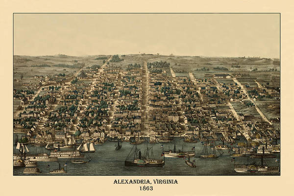 Photograph - Alexandria 1863 by Andrew Fare