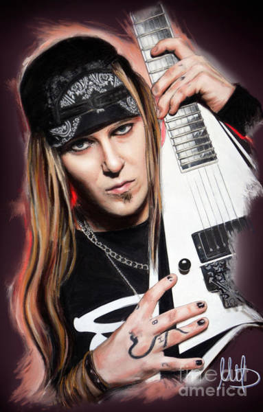 Child Mixed Media - Alexi Laiho by Melanie D