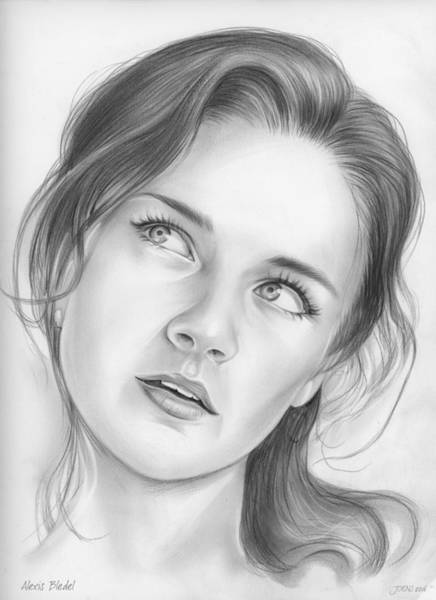 Actress Drawing - Alexis Bledel by Greg Joens