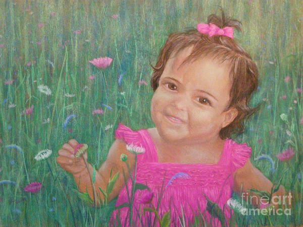 Painting - Alexis In Pink by Lynn Quinn
