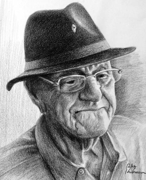 Impressionistic Landscape Drawing - Alex's Dad by Robert Korhonen
