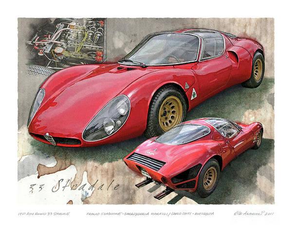 Digital Art - 1967 Alfa Romeo 33 Stradale by Rick Andreoli