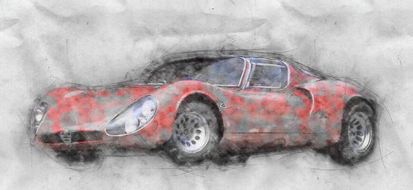 Four Wheeler Mixed Media - Alfa Romeo 33 Stradale 2 - 1967 - Automotive Art - Car Posters by Studio Grafiikka