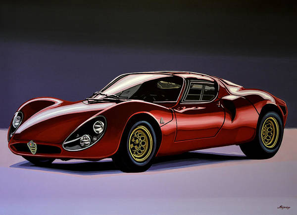 Car Show Painting - Alfa Romeo 33 Stradale 1967 Painting by Paul Meijering