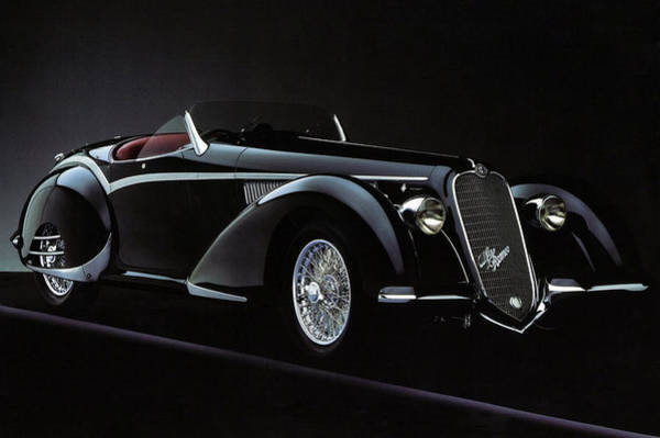 Painting - Alfa Romeo 8c 2900 Mercedes Benz by Karen Showell
