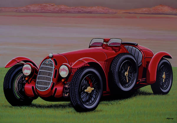 Wall Art - Painting - Alfa Romeo 8c 2900a Botticella Spider 1936 Painting by Paul Meijering