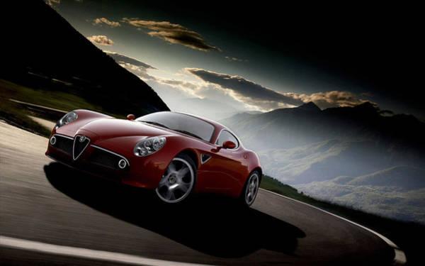 Digital Art - Alfa Romeo 8c Competizione by Maye Loeser