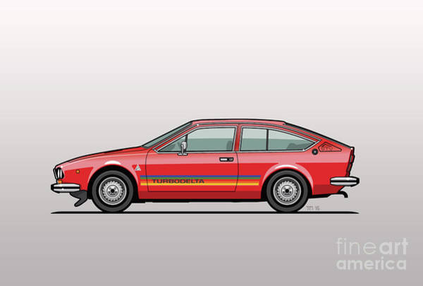 Wall Art - Digital Art - Alfa Romeo Alfetta Gtv Turbodelta by Monkey Crisis On Mars