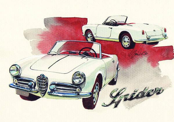 Alfa Romeo Painting - Alfa Romeo Giulietta Spider by Yoshiharu Miyakawa