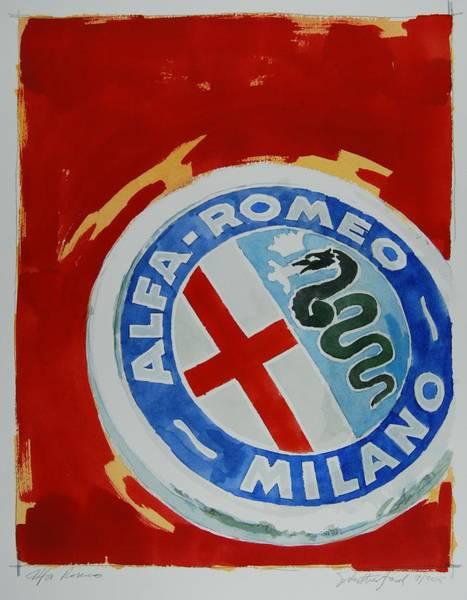 Alfa Romeo Painting - Alfa Romeo by Stephen Rutherford