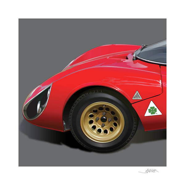 Detail Digital Art - Alfa Romeo Stradale Detail by Alain Jamar