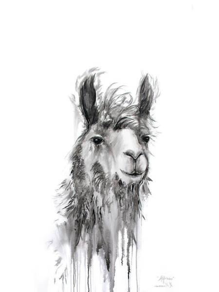 Alpaca Painting - Alfonso by K Llamas