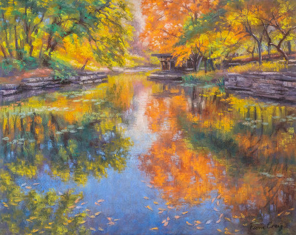 Wall Art - Pastel - Alfred Caldwell Lily Pool 1 by Fiona Craig