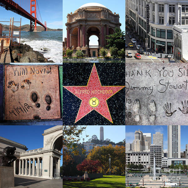 Photograph - Alfred Hitchcock Jimmy Stewart Kim Novak Vertigo San Francisco 20150608 by Wingsdomain Art and Photography