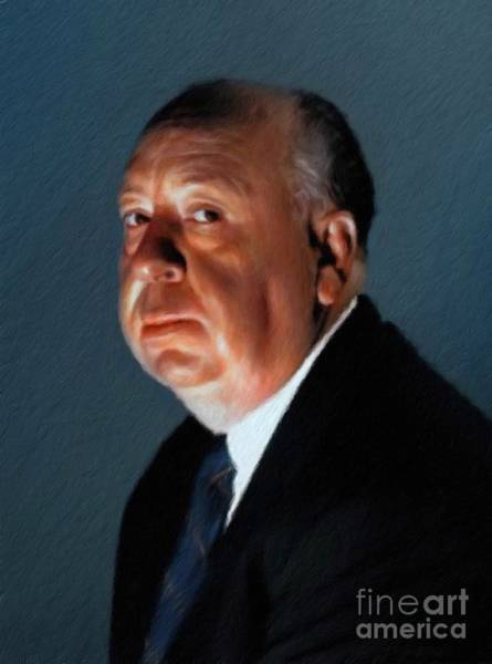 Director Painting - Alfred Hitchcock by Mary Bassett