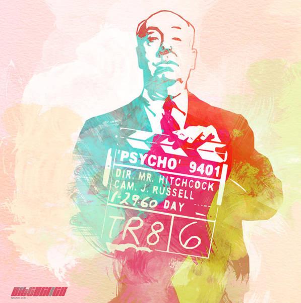 Film Digital Art - Alfred Hitchcock by Naxart Studio