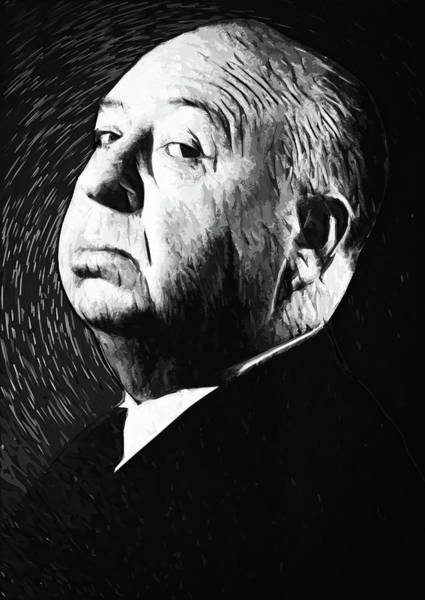Wall Art - Digital Art - Alfred Hitchcock by Zapista Zapista