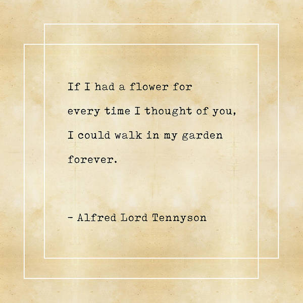 Reading Mixed Media - Alfred Lord Tennyson Quote - Literary Quotes - Book Lover Gifts - Typewriter Quotes by Studio Grafiikka